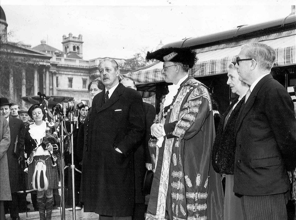 Launch of Premium Bonds Harold Macmillan in 1956