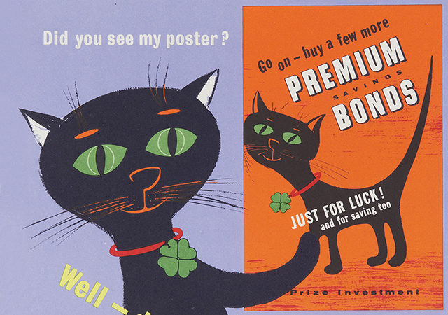 Premium Bonds cat poster