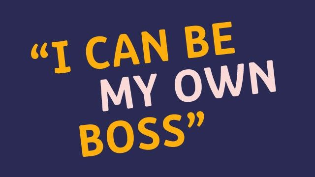 small image of i can be my own boss quote on the blog landing page and related articles