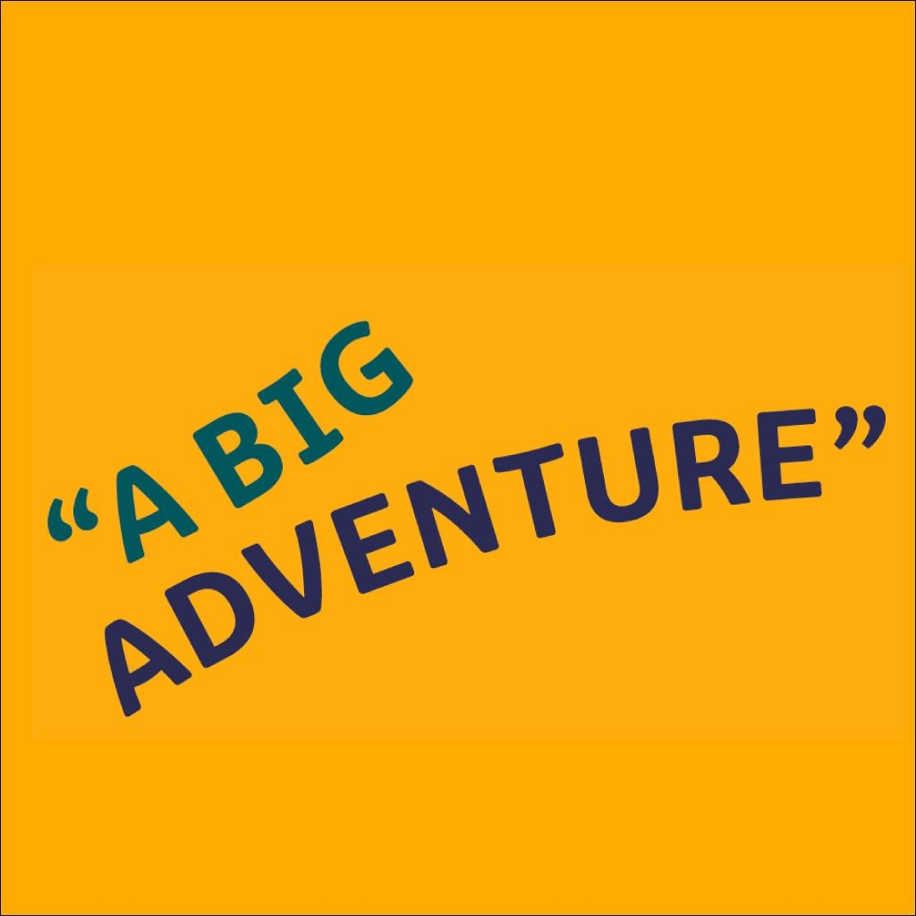 large image of a big adventure quote shown at the top of the article